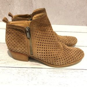 Lucky Brand | Brown Perforated Basel Booties